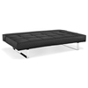 Atlantis Convertible Sofa with Chrome Track Legs - LSS-MCALIS335BK-MCALID1