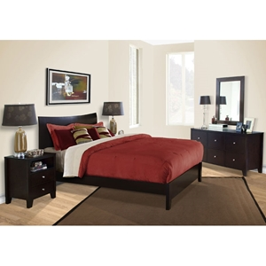 Canova 5 Piece Bedroom Set in Cappuccino