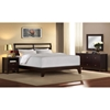 Dominique 4 Piece Wooden Bedroom Set - Cappuccino Finish - LSS-DMQ-4PC-BED