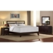 Dominique Wooden Platform Bed - Cappuccino Finish - LSS-DMQ-BED