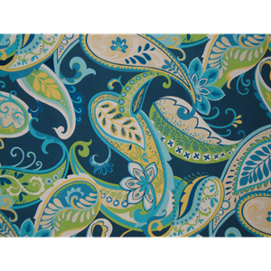 Whimsy Blue Futon Cover - Paisley