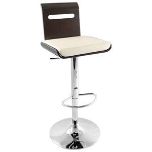 Viera Adjustable Height Bar Stool with 360 Degree Swivel