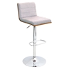 Vasari Height Adjustable Barstool - Swivel, Walnut, Gray - LMS-BS-JY-VSR-WL-GY