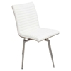 Mason Leatherette Dining Chair - Swivel, Walnut, Off-White (Set of 2) - LMS-CH-MSNSWV-WL-W2