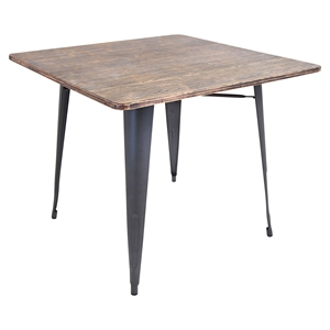 Oregon Square Dining Table - Gray