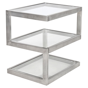 5S Rectangular End Table - Clear