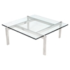 Cosmopolitan Square Coffee Table - Clear - LMS-TB-COSMO
