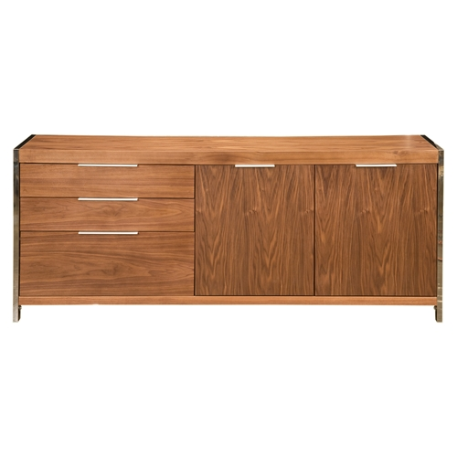 Neo Sideboard - 3 Drawers, 2 Cupboard Doors, Walnut | DCG Stores