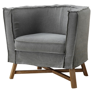 Grand Club Chair - Gray