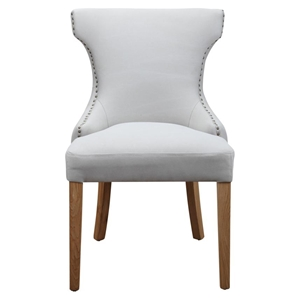 Bruna Nailhead Accent Chair - Cappuccino (Set of 2)