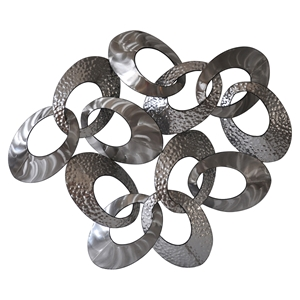 Looped Metal Wall Decor in Silver