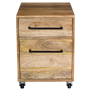 Colvin Mobile 2 Drawers Pedestal - Natural