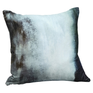 Murky Water Velvet Cushion - Feather Insert