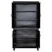 Indochine Tall Cabinet - Doors, Black - MOES-VT-1002-02