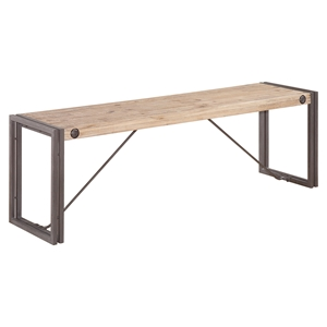 Brooklyn Small Bench - Dark Brown