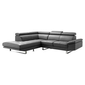 Andreas Left Sectional - Tufted, Gray
