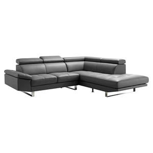 Andreas Right Sectional - Tufted, Gray