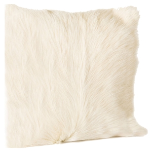 Goat Fur Pillow - Natural