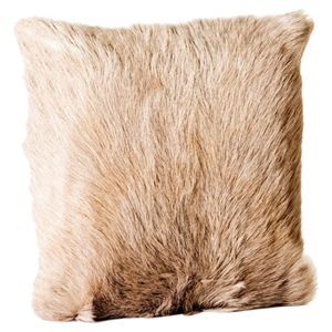 Goat Fur Pillow - Light Gray