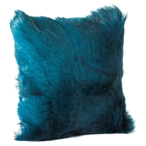 Goat Fur Pillow - Teal