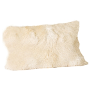 Goat Fur Bolster - Natural