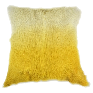 Goat Fur Pillow - Yellow Spectrum
