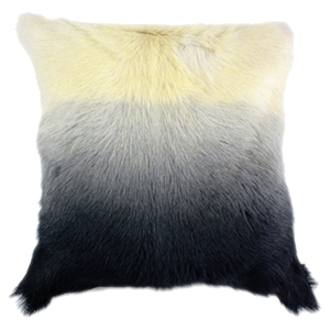 Goat Fur Pillow - Light Gray Spectrum