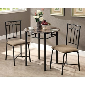 Illusion 3 Piece Bistro Set - Bronze Finish, Metal