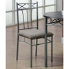 Imagine 3 Piece Bistro Set - Cappuccino, Silver Metal - MNRH-I-3075