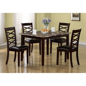 Devotion 5 Piece Dining Set - Dark Cherry