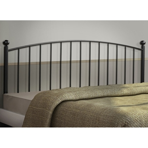 Penumbra Metal Headboard - Vertical Spindles, Coffee Finish