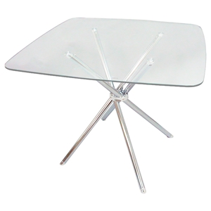 Cafe-308 Square Dining Table - Chrome