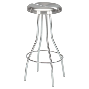 Counter Stool-53 - Stainless Steel, Aluminum Plate