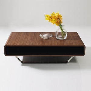 Cota Coffee Table - Walnut, Black