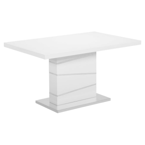 Cafe-445 Dining Table - White, Pedestal Base
