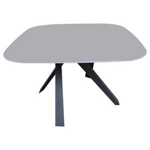 Cafe-453 Dining Table - Gray, Black