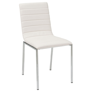 Side-456 Side Chair - White, Chrome Leg