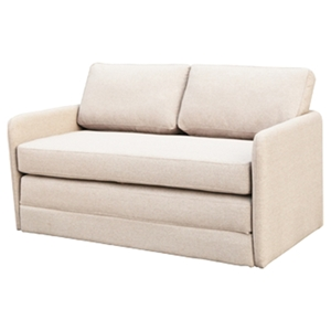Phillip Fabric Sofa Bed - Light Brown