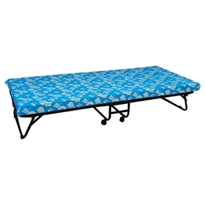 Folding Comfort Bed - Blue, Fabric