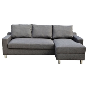 Turin Right Arm Facing Sofa Bed - Dark Gray