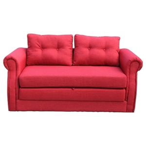 Lucca Fabric Sofa Bed - Red