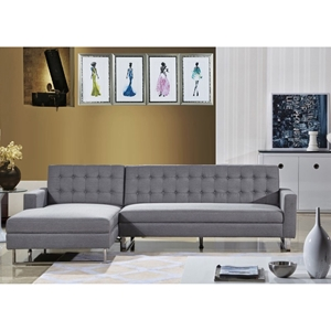 Clemonte Sectional Sofa - Left Arm Facing Chaise, Light Gray
