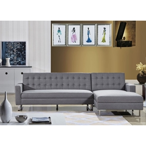 Clemonte Sectional Sofa - Right Arm Facing Chaise, Light Gray