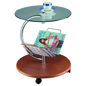 Cota-C End Table - Cherry, Clear