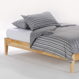 Basic Platform Bed with Folding Foot Bench