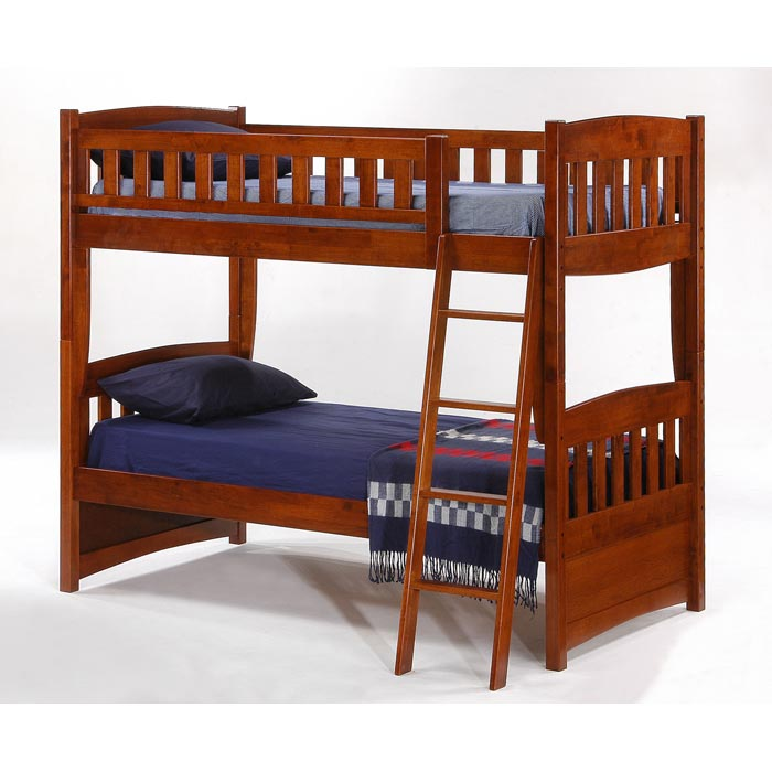 Cinnamon Twin Bunk Bed - Cherry Finish