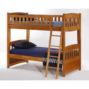 Cinnamon Twin Bunk Bed - Medium Oak