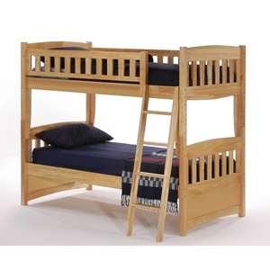 Cinnamon Twin Bunk Bed - Natural Finish