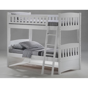 Cinnamon Twin Bunk Bed - White Finish