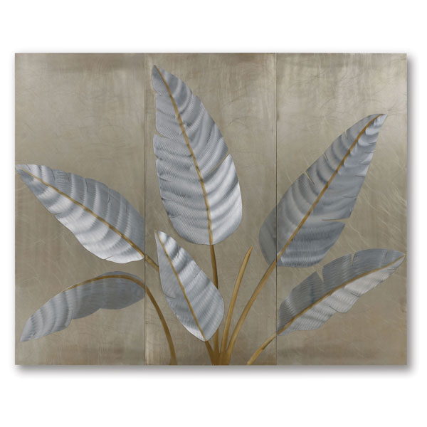 Metallic Leaves Wall Graphic
